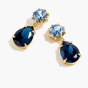 J. Crew Sapphire Pear Drop Earrings